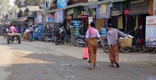 Vie dans la rue à Yangon, Myanmar Image libre de droits