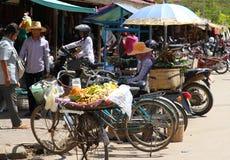 Vie dans la rue cambodgienne Images libres de droits