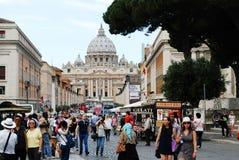 Vie dans la rue de ville de Rome le 30 mai 2014 Images stock