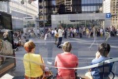 Vie dans la rue du centre de Vancouver Photo libre de droits