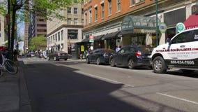 Vie dans la rue 4k Pennsylvanie Etats-Unis de ville de jour d'été de Philadelphie banque de vidéos