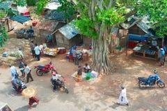 Vie dans la rue typique de Sri Lanka Image libre de droits