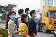 Vie dans la ville polluée Photo libre de droits
