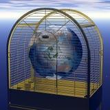 Vie dans une cage d'or illustration de vecteur