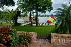 Vie de bord du lac Image stock