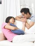 vie de hall de couples Photos libres de droits