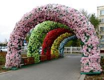 Vie decorate a Astana, il Kazakistan fotografia stock