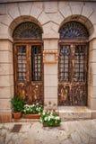 Vie dei beautifuls di Valldemossa con vecchio fotografie stock