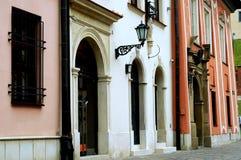 Vie del centro di Cracovia Fotografia Stock Libera da Diritti