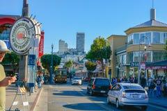 Vie del cielo blu di ora legale di San Francisco fotografia stock