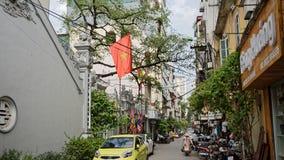 Vie del quartiere francese a Hanoi fotografia stock libera da diritti