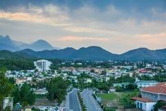 Vie dell'hotel nel villaggio di Camyuva immagini stock libere da diritti