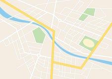 Vie della città con uno stadio sul piano Royalty Illustrazione gratis