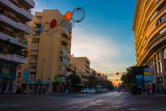 Vie della città di Marbella fotografia stock