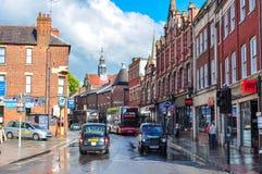 Vie della città di Oxford, Regno Unito fotografie stock libere da diritti