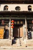 Vie della città di vecchia scena-Taigu della città di Taigu vecchie e vecchie costruzioni commerciali immagine stock
