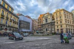 Vie della città nel centro urbano Fotografie Stock Libere da Diritti