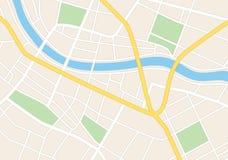 Vie della città sul piano Illustrazione Vettoriale