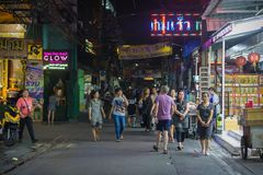 Vie di Bangkok fotografie stock libere da diritti