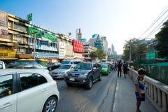 Vie di Bangkok Fotografia Stock Libera da Diritti