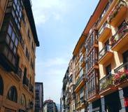 Vie di Bilbao immagine stock