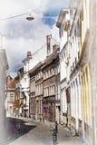 Vie di Bruges, Belgio Immagini Stock