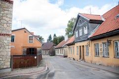 Vie di Cesis, Lettonia fotografia stock