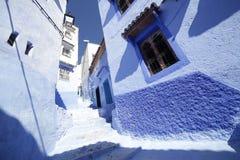 Vie di Chefchaouen Marocco Fotografia Stock