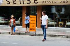 Vie di Chiang Mai Fotografie Stock