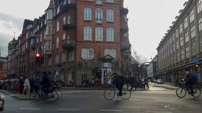 Vie di Copenhaghen fotografie stock