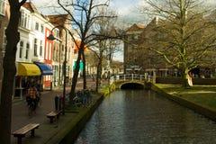 Vie di Delft Fotografie Stock Libere da Diritti