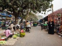 Vie di Delhi e dei mercati Immagini Stock Libere da Diritti