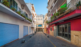Vie di Emptry & negozi chiusi di Sant urbano Antoni De Portmany, Ibiza, Spagna Fotografia Stock Libera da Diritti