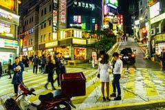 Vie di Gangnam, Seoul, Corea del Sud Immagini Stock Libere da Diritti
