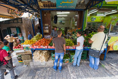 Vie di Gerusalemme Fotografia Stock Libera da Diritti