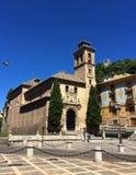 Vie di Granada, Andalusia, Spagna immagine stock