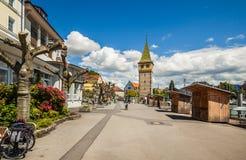 Vie di Lindau, Baviera, Germania Fotografie Stock Libere da Diritti