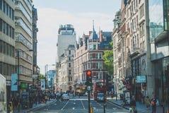 Vie di Londra Fotografia Stock