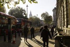 Vie di Londra in autunno Fotografie Stock Libere da Diritti