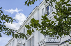 Vie di Londra - una casa di città bianca Fotografie Stock