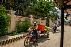 Vie di Phnom Penh Fotografie Stock Libere da Diritti