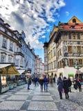 Vie di Praga Immagini Stock