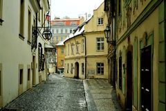 Vie di Praga, repubblica Ceca Immagine Stock