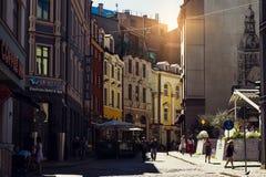 Vie di Riga Immagini Stock Libere da Diritti