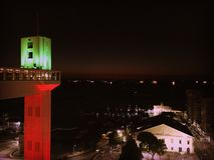 Vie di Salvador, Brasile di notte Immagini Stock Libere da Diritti
