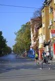 Vie di Sofia Marathon Immagine Stock