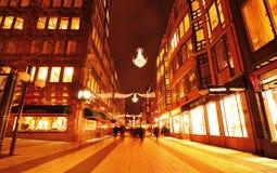 Vie di Stoccolma Fotografie Stock