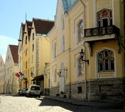 Vie di Tallinn, Estonia Fotografie Stock