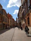 Vie di Tolosa, Francia immagine stock libera da diritti
