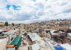 Vie di vecchia città, quarto arabo, Gerusalemme fotografia stock libera da diritti
